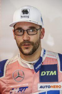 Saisonfinale auf dem Norisring, GER, Nuernberg, Norisring Bild: v. li. Maximilian Goetz (Mercedes-AMG Team HRT, Mercedes-AMG GT3) kroent sich mit seinem 2 Sieg am Norising zum DTM-Champion